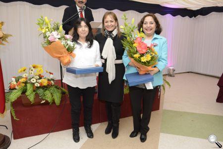 La alcaldesa Fabiola Lagos se mostró feliz con el éxito del evento.