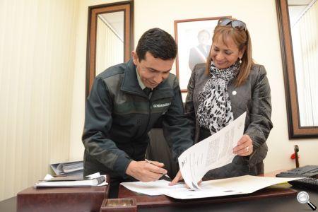 El convenio fue firmado en la Alcaldía.