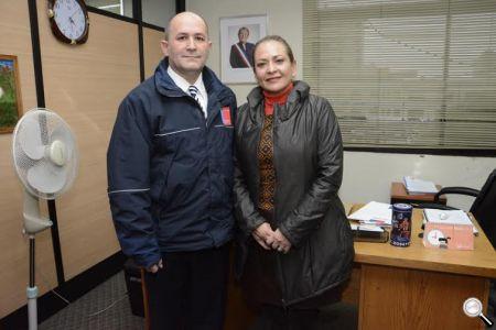 1.La alcaldesa Fabiola Lagos, junto al Seremi de Desarrollo Social, Patricio Torres.